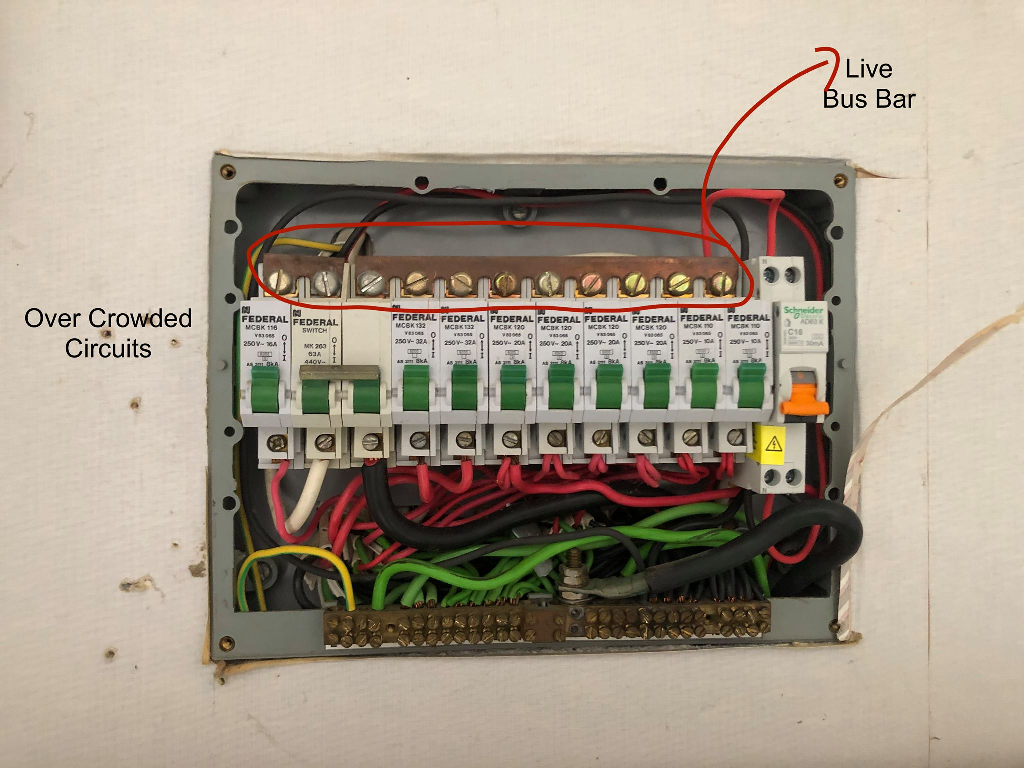 dangerous switchboard